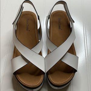 Pierre Dumas White Platform Sandals - Sz 7